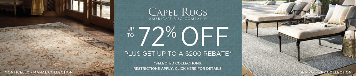 Capel Rugs - Save up to 72% on select collections + get up to $200 back.