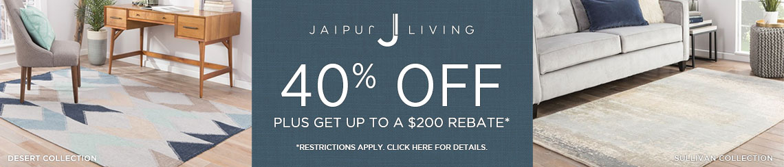 Jaipur Living Rugs - Save 40% + get up to $200 back.