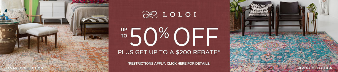 Loloi Rugs - Save up to 50% plus get up to $200 back.