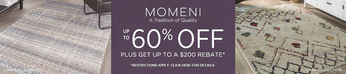 Momeni Rugs - Save up to 60% plus get up to $200 back!