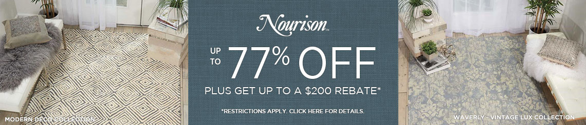 Nourison Rugs - Save up to 77% + get up to $200 back.