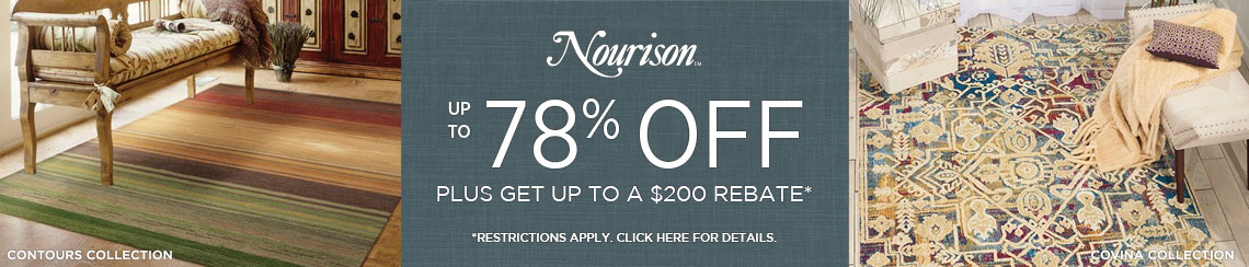 Nourison Rugs - Save up to 78% + get up to $200 back.