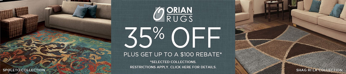 Orian Rugs - Save 35% on select collections + get up to $100 back!
