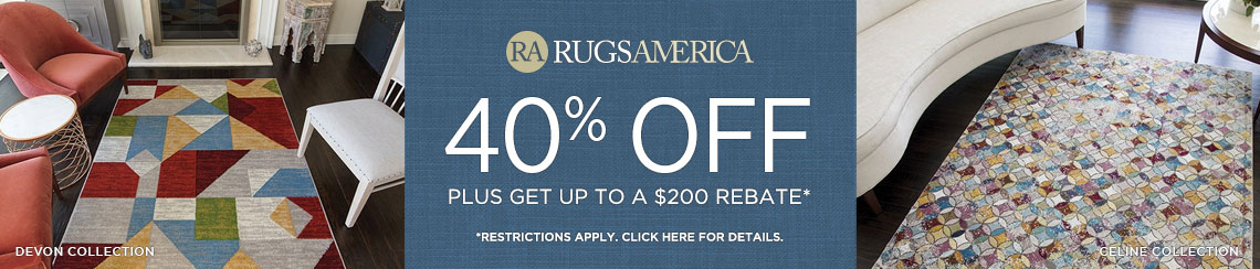 Rugs America Rugs - Save 40% + get up to $200 back.