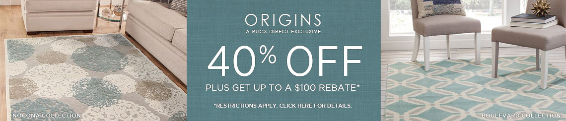 Origins Rugs - Save 40% + Rebate