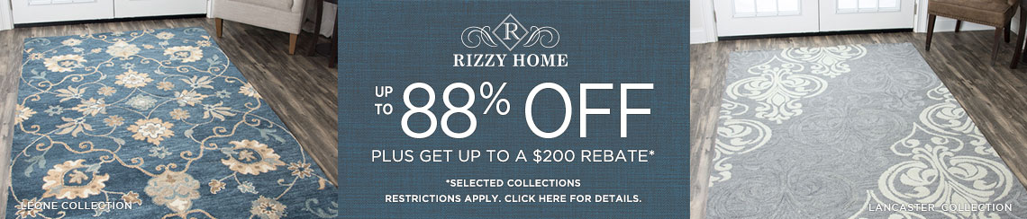 Rizzy Rugs - Up to 88% Off plus get up to $200 back!