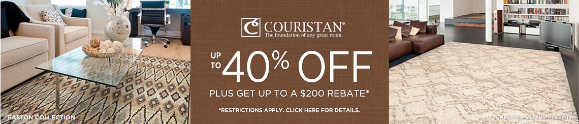 Couristan Rugs - Save up to 40% + get up to $200 back.