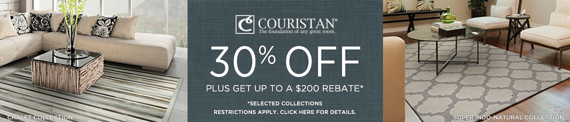 Couristan Rugs - Save up to 30% + get up to $200 back.