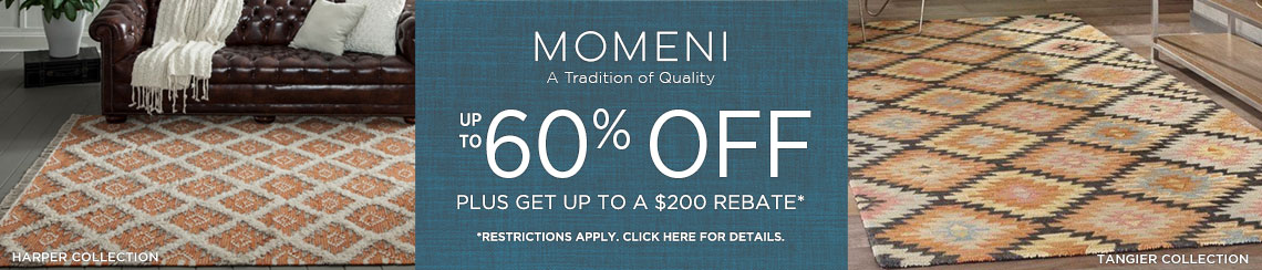 Momeni Rugs - Save up to 60% plus get up to $200 back.