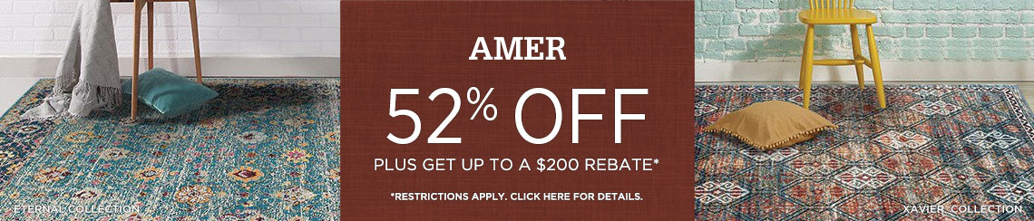 AMER Rugs - Save 52% plus get up to $200 back.