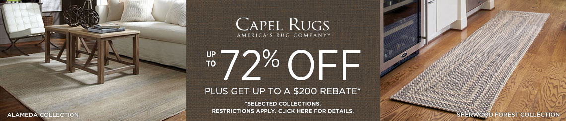 Capel Rugs - Save up to 72% + Rebate!