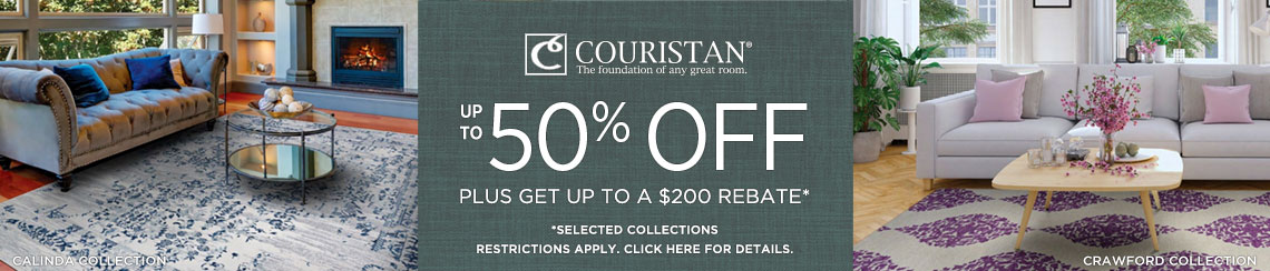 Couristan Rugs - Save up to 50% + Rebate!