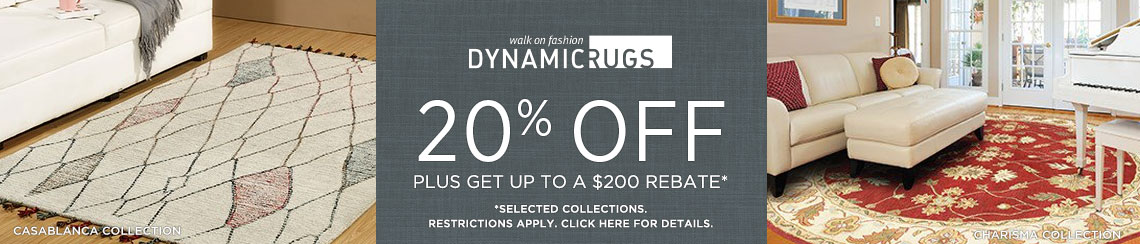 Dynamic Rugs - Save 20% + get up to $200 back.