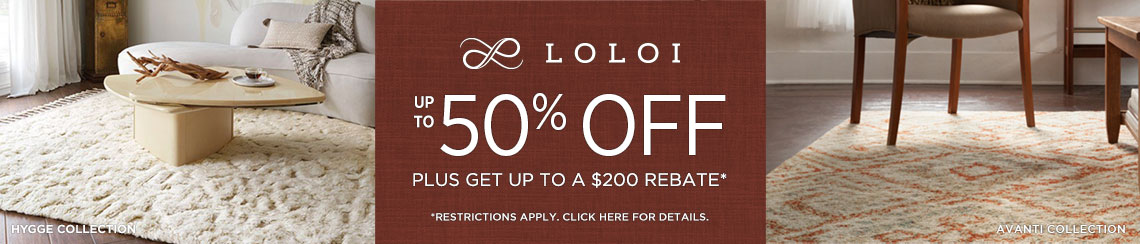 Loloi - Save Up to 50% + Rebate!
