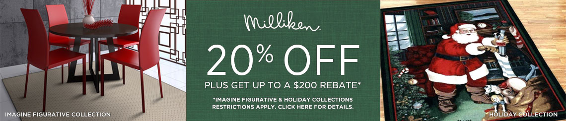 Milliken Rugs - Save 20% + Rebate!