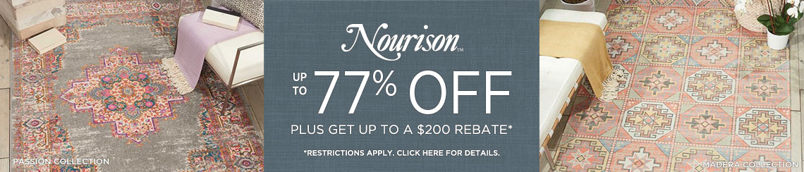 Nourison Rugs - Save up to 77% + Rebate!