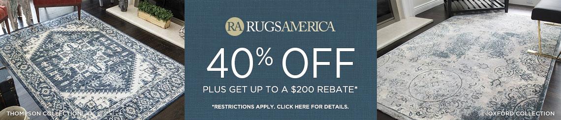 Rugs America - Save 40% + Rebate!