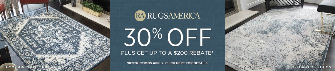 Rugs America - Save 30% + Rebate!