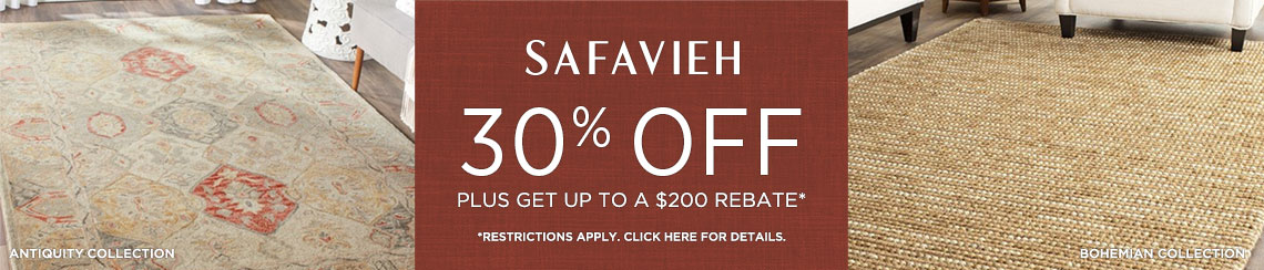 Safavieh Rugs - Save 30 + Rebate!