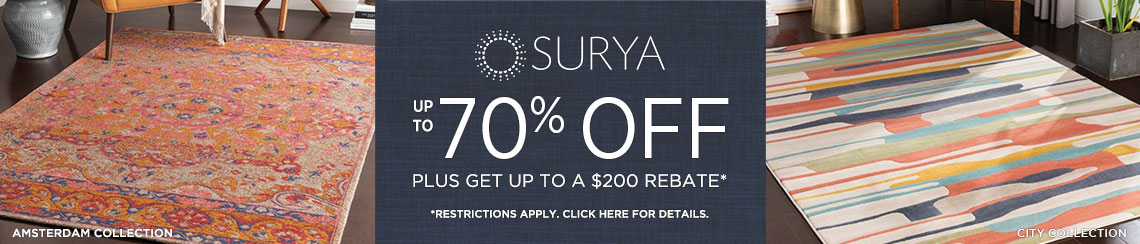 Surya Rugs - Save up to 70% + Rebate!