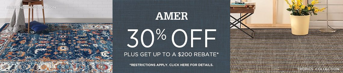 AMER Rugs - Save 30% + get up to $200 back.