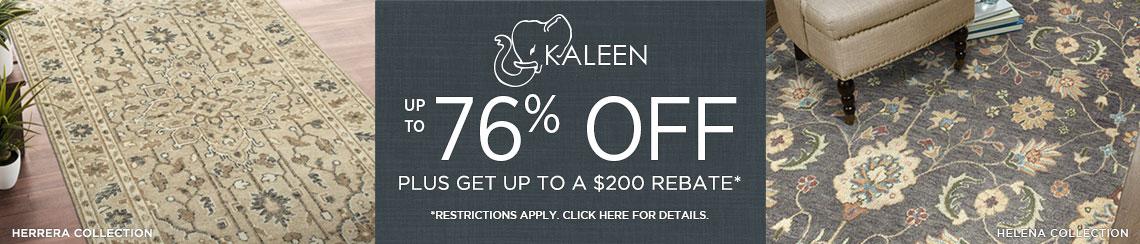 Kaleen Rugs - Save Up To 76% + Rebate!