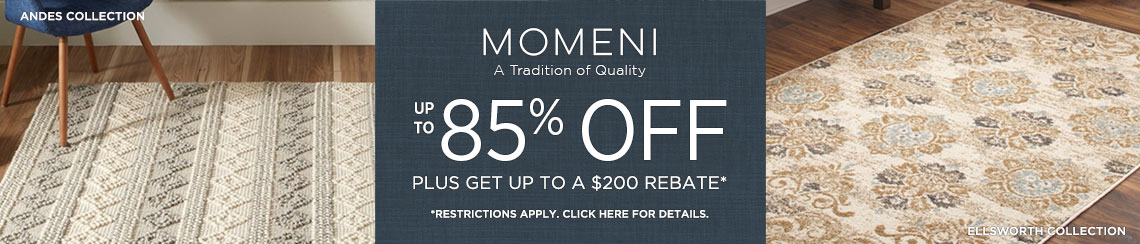Momeni - Save Up to 85% + Rebate!