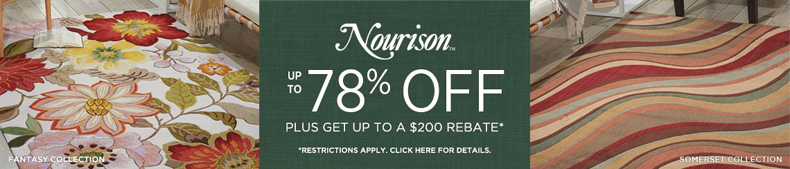 Nourison Rugs - Save up to 78% + Rebate!