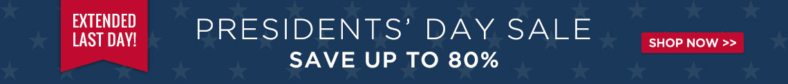 Presidents' Day Sale - Save Up To 80%!