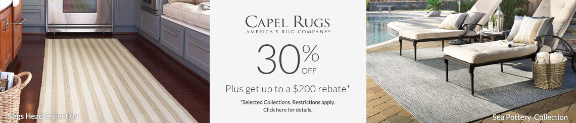Capel Rugs - Save 30% + Rebate!