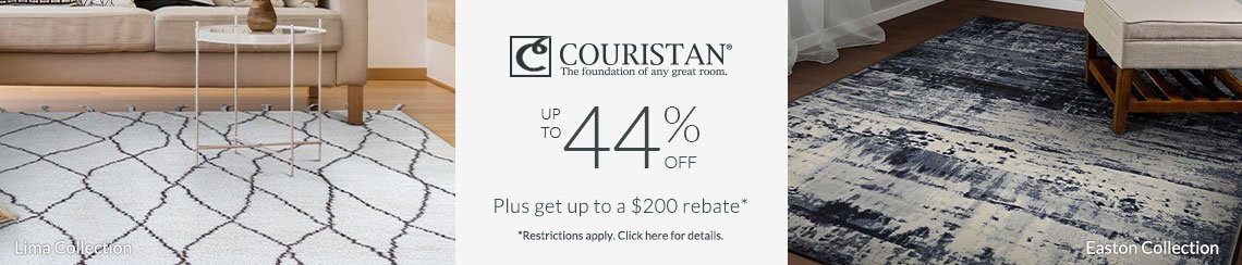 Couristan Rugs - Up to 44% + get up to $200 back!