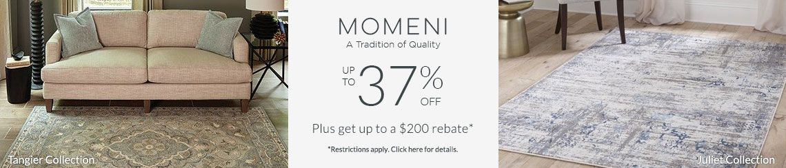 Momeni - Save up to 37% + get up to $200 back!