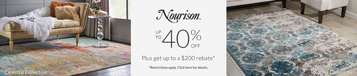Nourison Rugs - Save up to 40% + get up to $200 back!