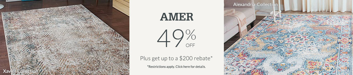 AMER Rugs - Save 49% + get up to $200 back.