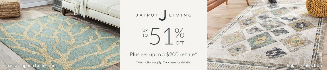 Jaipur Living Rugs - Save up to 51% + get up to $200 back!