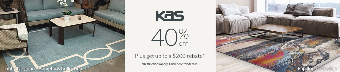 KAS Rugs - Save 40% + get up to $200 back.