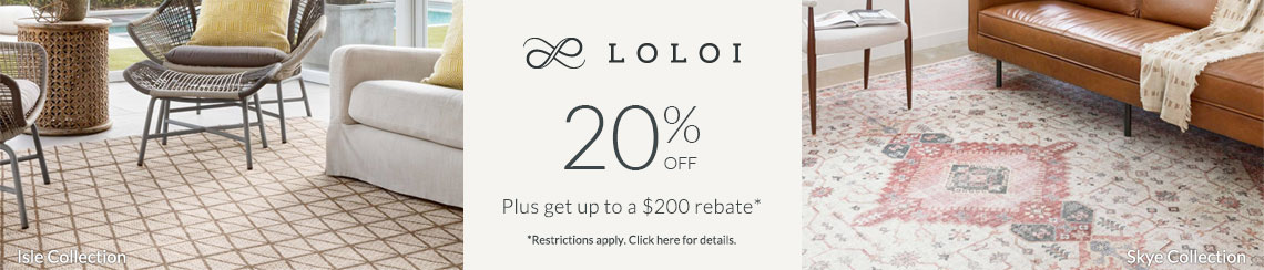 Loloi - Save 20% + get up to $200 back!