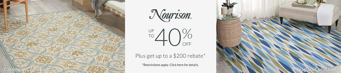Nourison Rugs - Save 40% + get up to $200 back!