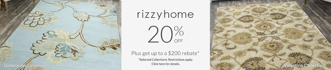 Rizzy Rugs - Save up to 20% + get up to $200 back!