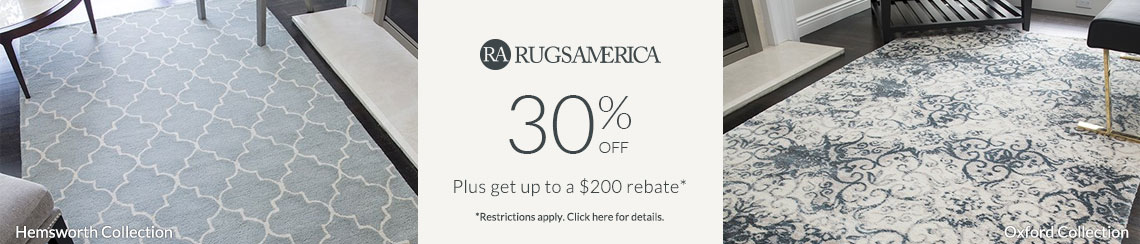 Rugs America - Save 30% + get up to $200 back!