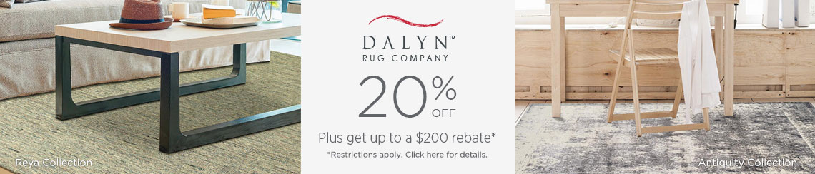 Dalyn Rugs - Save 20% + get up to $200 back!