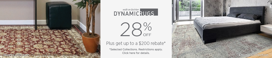 Dynamic Rugs - Save 28% + get up to $200 back.