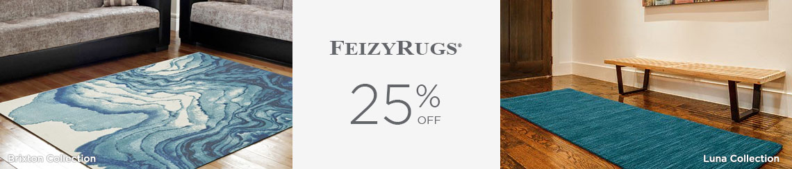 Feizy Rugs - Save 25%!