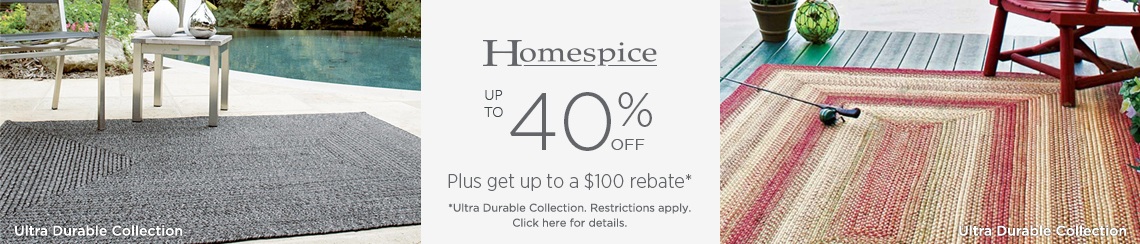 Homespice Rugs - Save up to 40% + get up to $100 back.