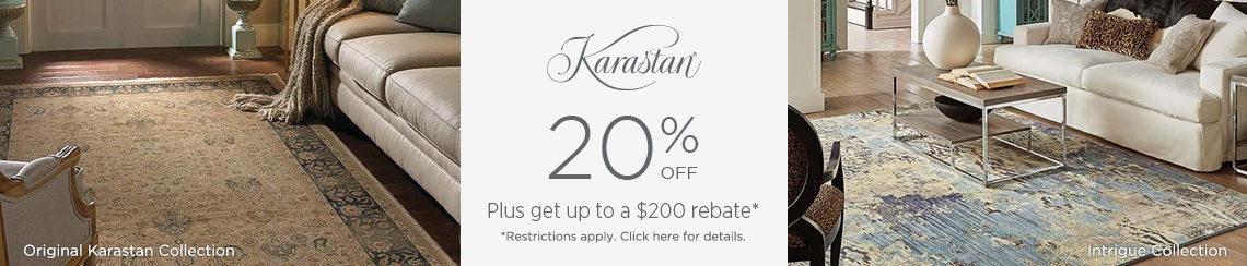 Karastan Rugs - Save 20% + get up to $200 back!