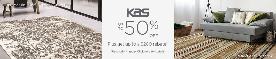 KAS Rugs - Save 50% + get up to $200 back.