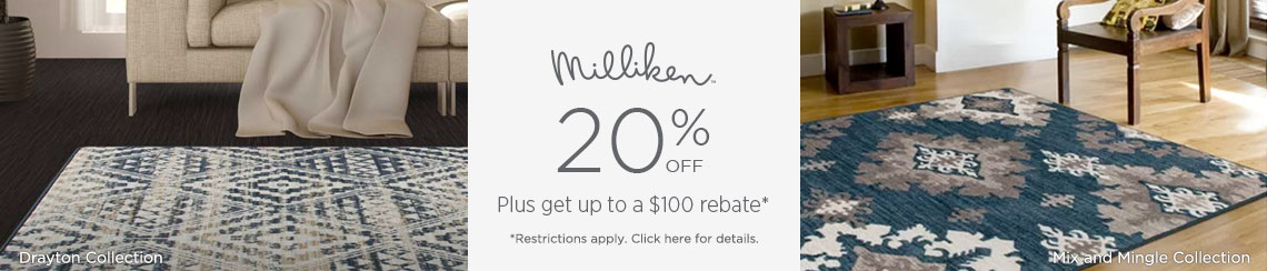 Milliken Rugs - Save 20% + get up to $100 back!