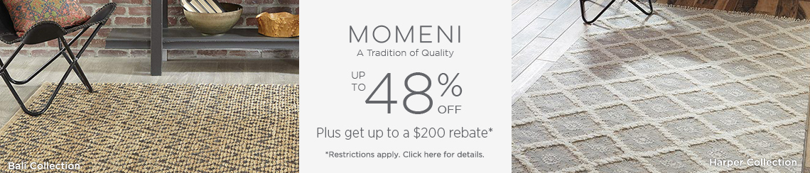 Momeni - Save up to 48% + get up to $200 back!