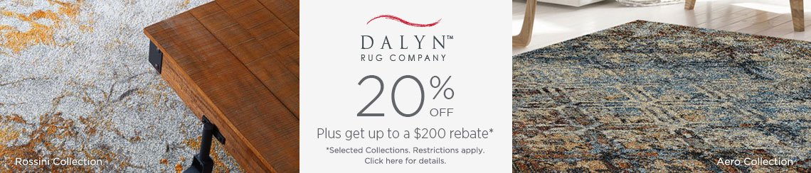 Dalyn Rugs - Save 20% + Rebate!