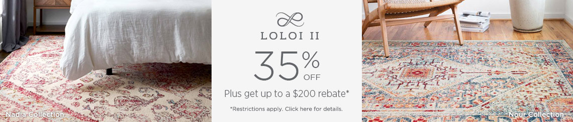 Loloi II - Save 35% + get up to $200 back!